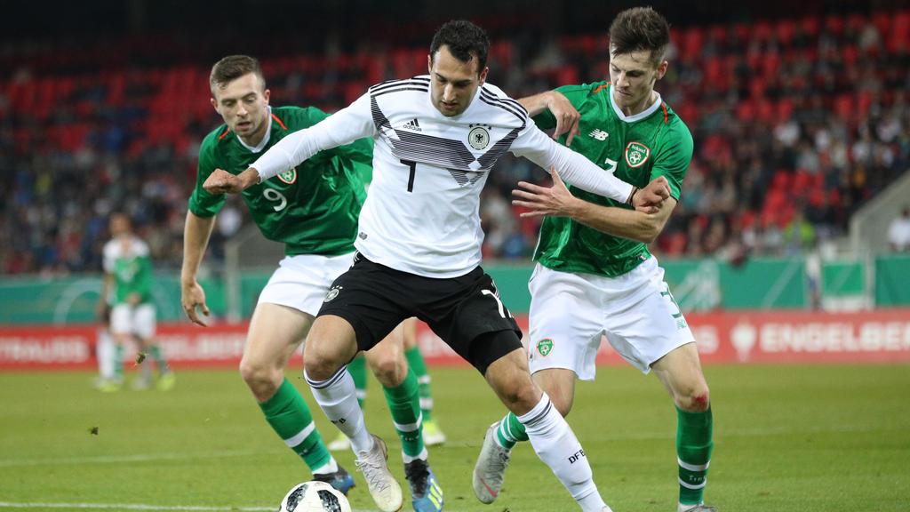 Levin Öztunali traf zum 2:0 für die deutsche U21