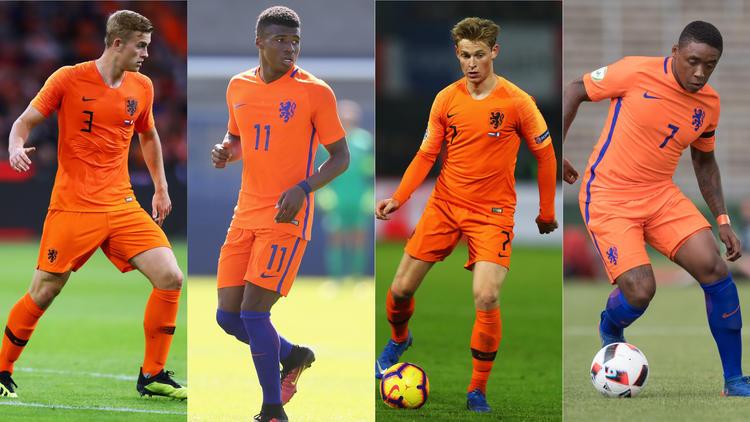 Die neuen Gesichter der Elftal: Matthijs de Ligt, Javairô Dilrosun, Frenkie de Jong und Steven Bergwijn