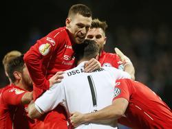 Arminia Bielefeld steht im Viertelfinale des DFB-Pokals