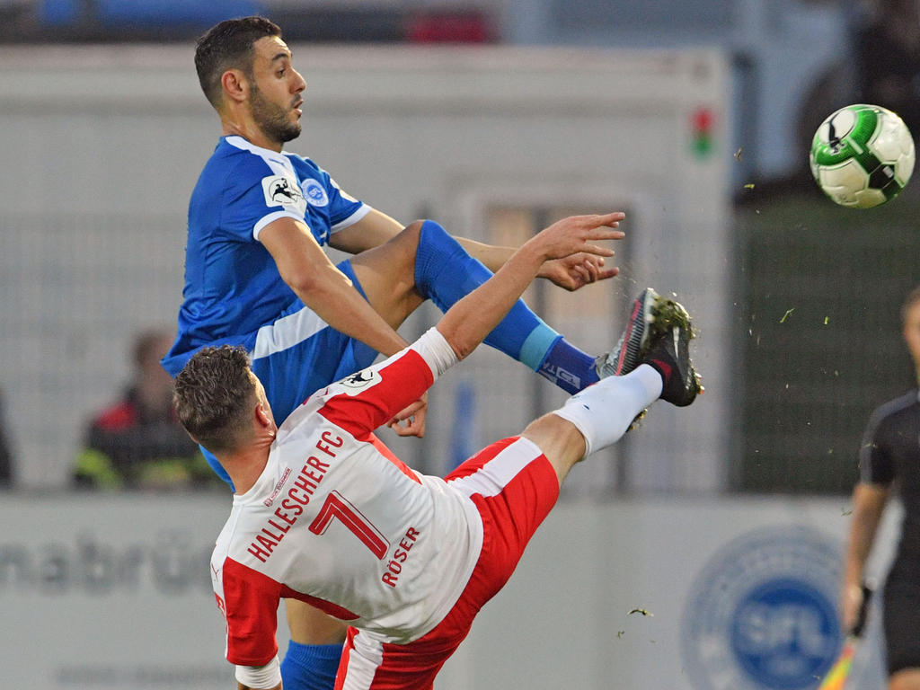 Hamadi Al Ghaddioui (in blau) war erst 2017 nach Lotte gewechselt