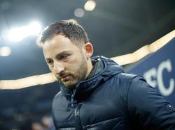 Domenico Tedesco musste den Platz beim Spiel gegen Frankfurt verlassen