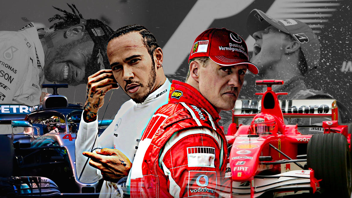 Die beiden erfolgreichsten Fahrer aller Zeiten: Michael Schumacher und Lewis Hamilton