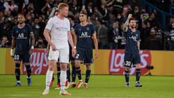 Lionel Messi (r.) führte PSG gegen Manchester City zum Sieg