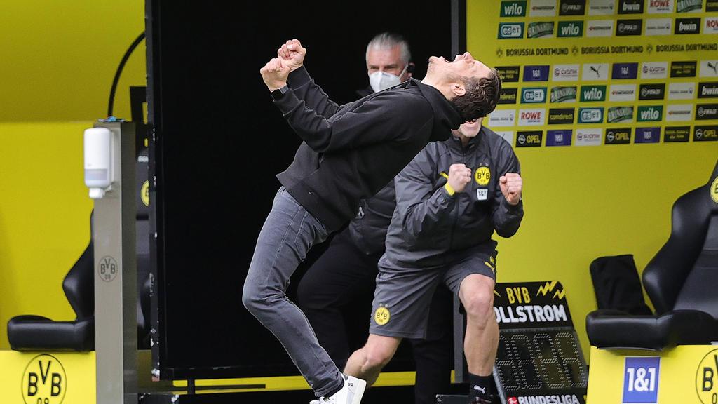 Edin Terzic feierte den Siegtreffer des BVB ausgelassen