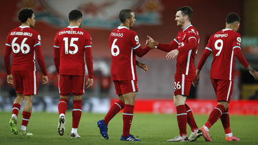 Thiago Alcantara (#6) kommt nach seinem Wechsel vom FC Bayern zum FC Liverpool immer besser in Form
