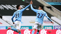 Traf dreimal für Manchester City: Ferran Torres (l.)
