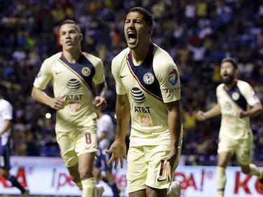Cecilio Domínguez celebra su tanto ante Puebla. (Foto: Imago)