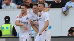 Eintracht Frankfurt jubelt über den Sieg