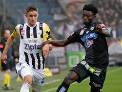 Gideon Mensah (r.) war zuletzt an Sturm Graz verliehen