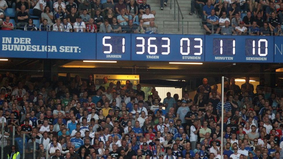 Die Stadion-Uhr beim HSV hat ausgedient