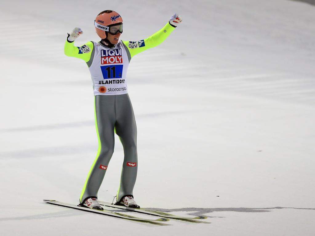 Stefan Kraft hat die österreichische Mannschaft zum Sieg geführt