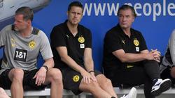 Sebastian Kehl (M.) will sich bei den Comeback-Kandidaten des BVB noch nicht festlegen