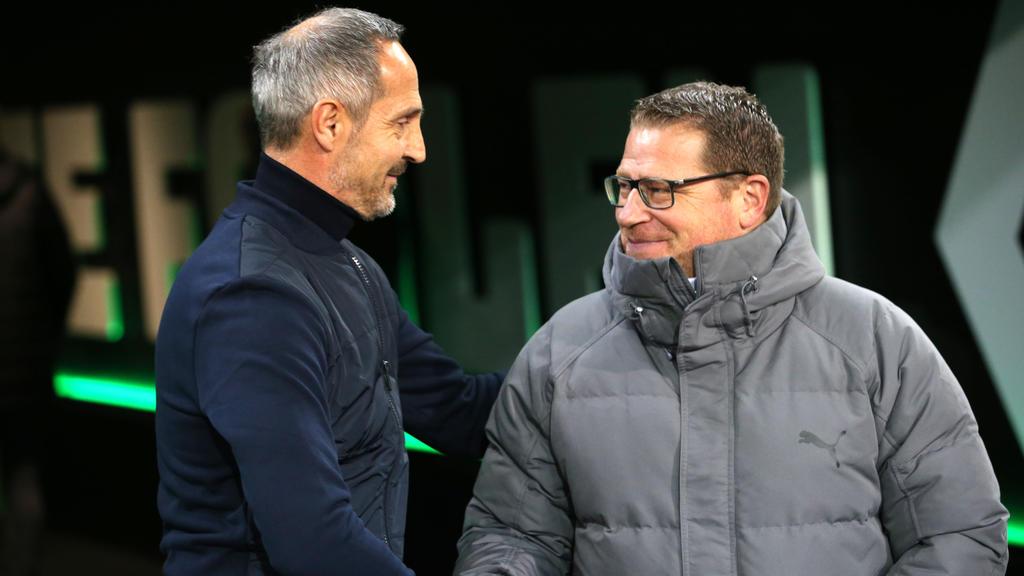 Die Bundesliga steht kurz vor Rückrundenstart, Max Eberl (r.) findet den Titelkampf spannend