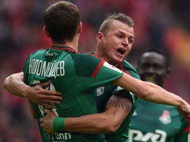 El Lokomotiv celebra un tanto en una imagen de archivo. (Foto:Getty)