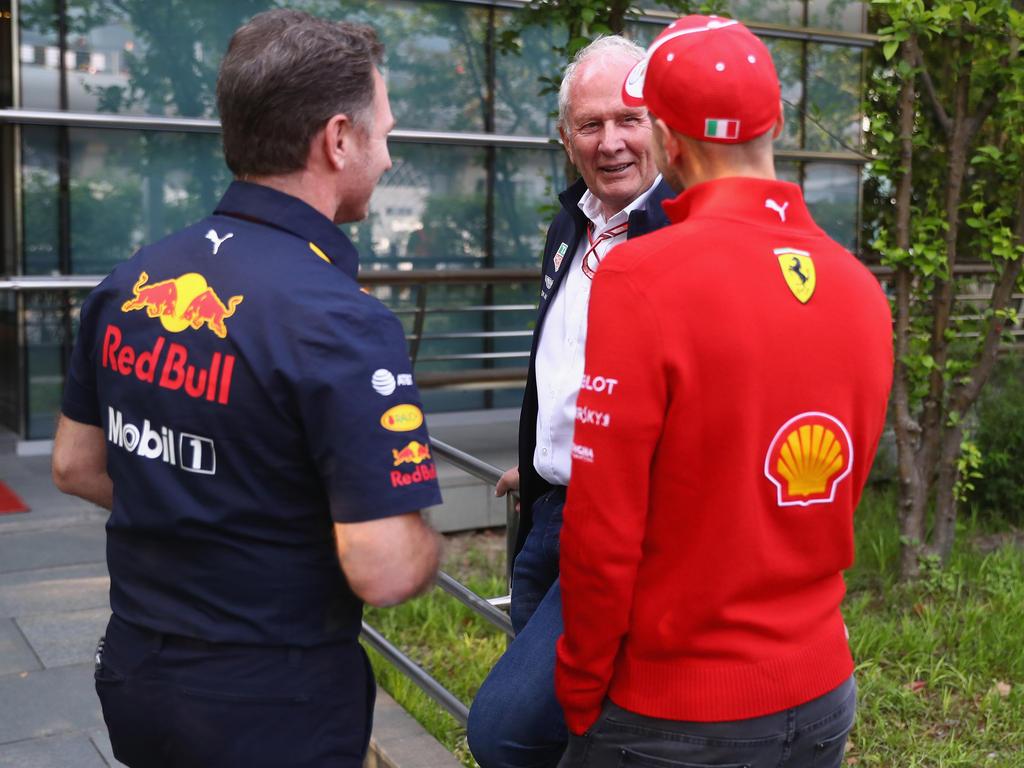 Zwischen Christian Horner (l.) und Sebastian Vettel bestand Gesprächsbedarf