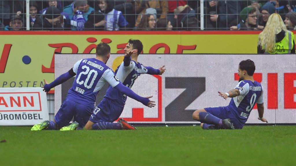 Der VfL Osnabrück jubelte im Heimspiel gegen den SV Meppen