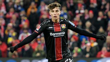 Kai Havertz spielt bei Bayer Leverkusen