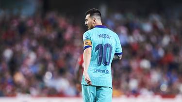 Barcelonas Messi reagiert nach der Niederlage gegen Granada enttäuscht