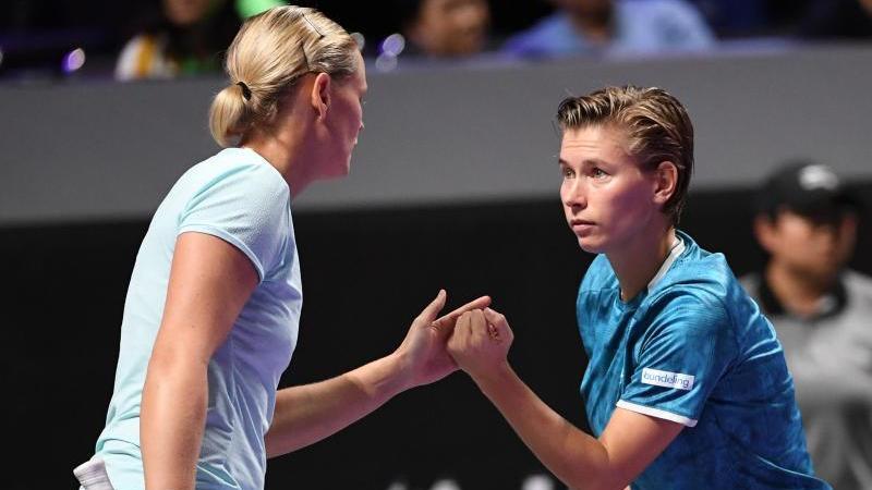 Anna-Lena Grönefeld (l.) und Demi Schuurs sind im Halbfinale ausgeschieden