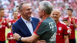 Karl-Heinz Rummenigge (l.) schwärmt von der Zeit mit Jupp Heynckes beim FC Bayern