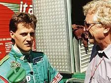 Michael Schumacher bei seinem Formel-1-Debüt 1991 in Spa im Gespräch mit dem damaligen RTL-Kommentator Willy Knupp
