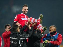 Unions Benjamin Köhler feierte gegen Braunschweig sein Pflichtspiel-Comeback