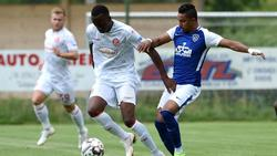 Dodi Lukebakio (l.) erzielte das 1:0 (Bild: Twitter: Fortuna Düsseldorf