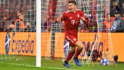 Robert Lewandowski siegte unter der Woche mit dem FC Bayern
