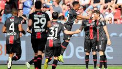 Bayer Leverkusen hatte nach dem Seitenwechsel Grund zu jubeln