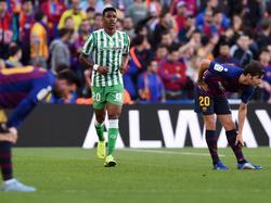Junior Firpo en su última visita al Camp Nou.