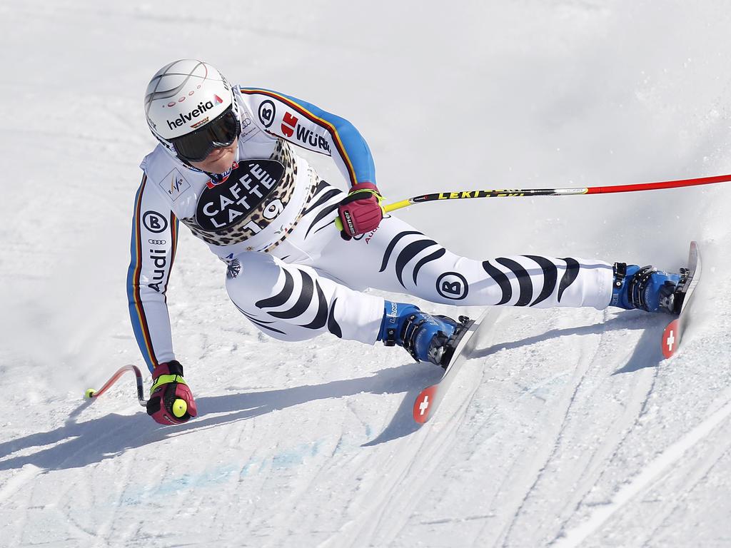 Super G In Val D Isère Rebensburg Am Start