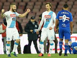 Lorenzo Tonelli dio los tres puntos al Nápoles en el minuto 95. (Foto: Getty)