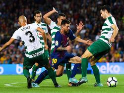 Messi ganó la batalla a todos los defensores del Eibar. (Foto: Getty)