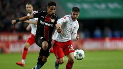Jan Thielmann (r.) feierte gegen Bayer Leverkusen sein Bundesliga-Debüt