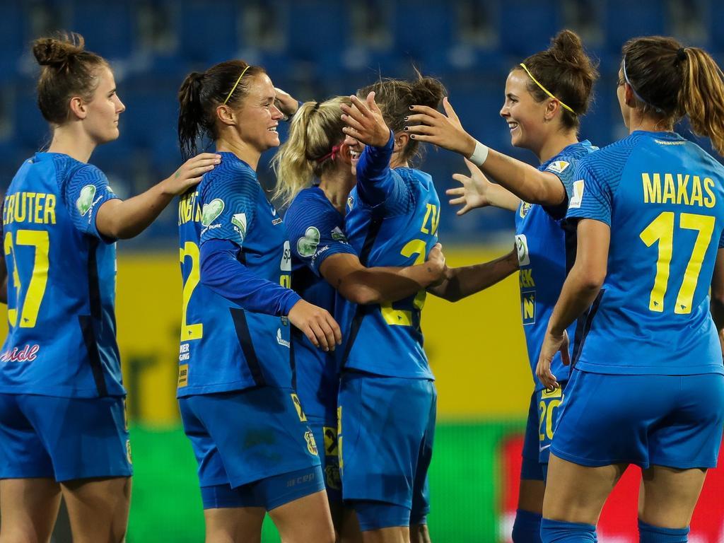 Jubel beim Frauenteam des SKN St. Pölten