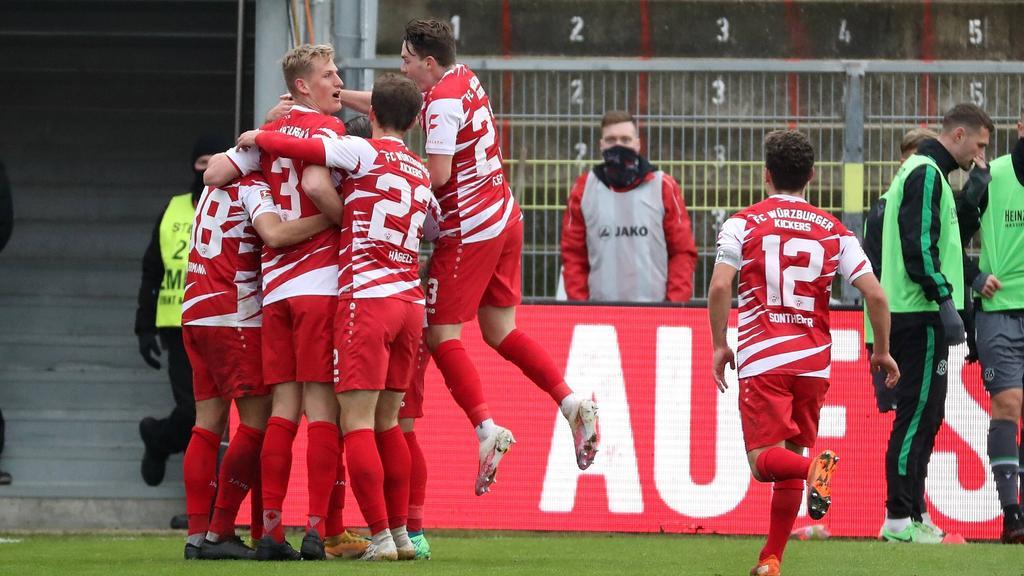 Die Würzburger Kickers drehten die Partie gegen Hannover 96