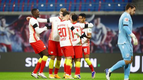RB Leipzig setzte sich gegen Arminia Bielefeld durch