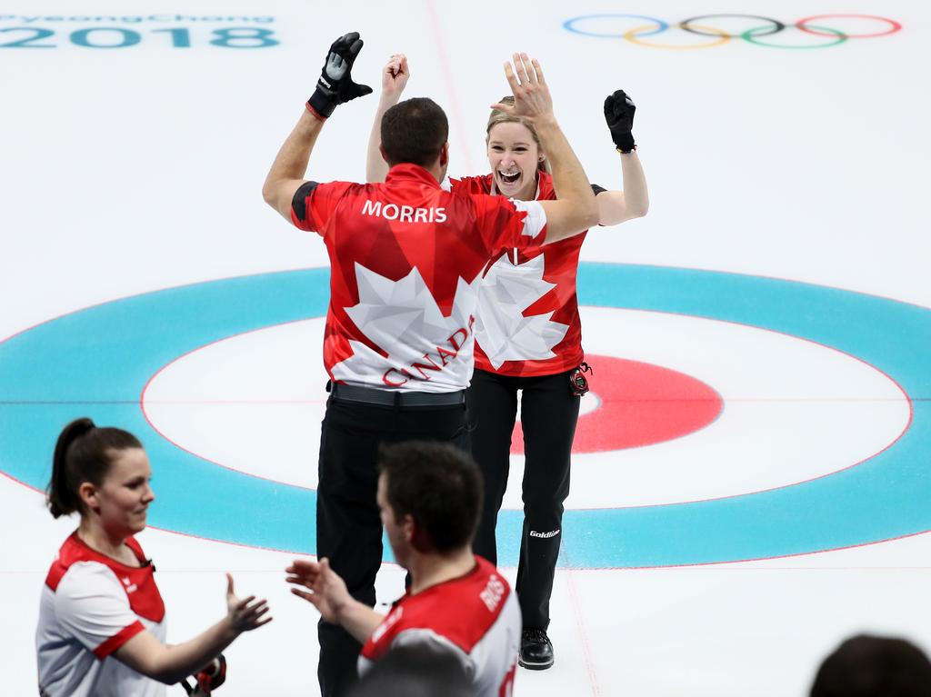 Kanada hat die Olympia-Premiere des Mixed-Wettbewerbs der Curler gewonnen