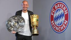 Robben holte in seinem letzten Bayern-Jahr nochmals das Double