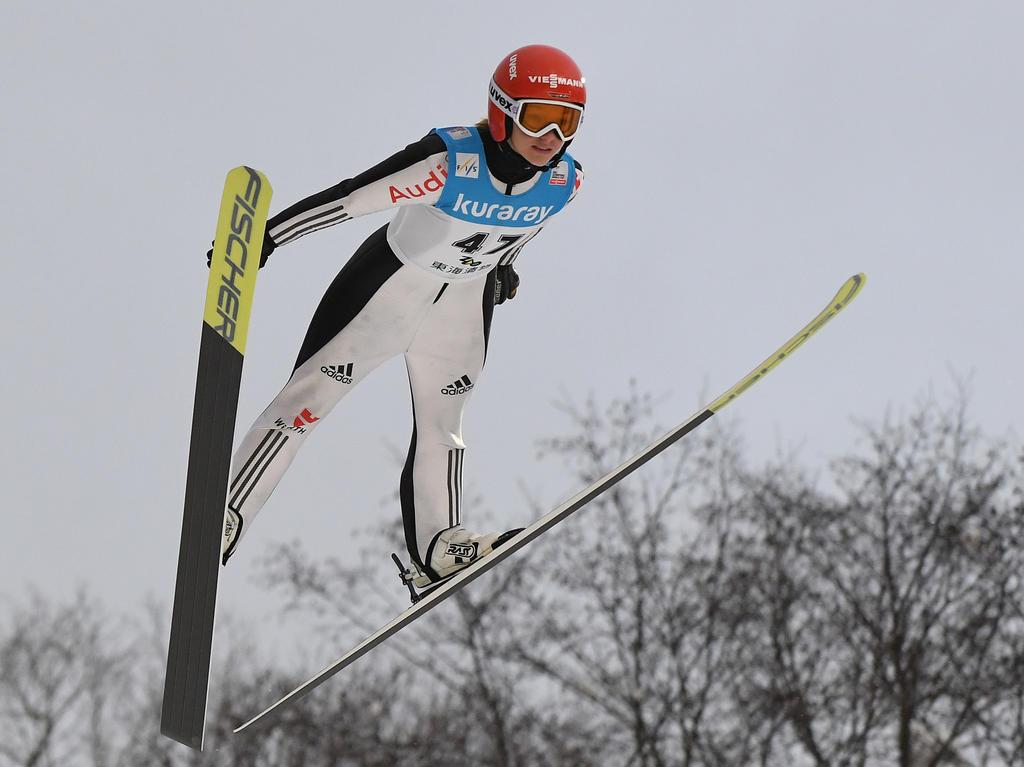 Katharina Althaus ist in Slowenien auf den dritten Platz gesprungen