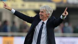 Gasperini en un duelo liguero ante el Udinese.