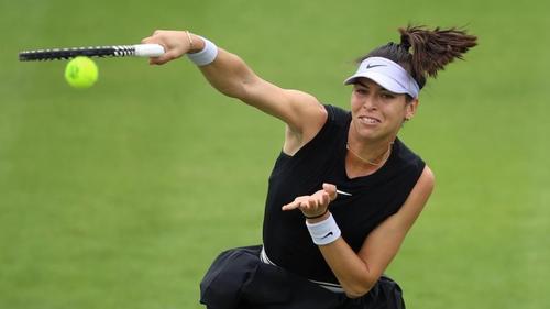 Die australische Tennisspielerin Ajla Tomljanovic in Aktion