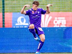 Austria-Profi Eric Martel erzielte das zwischenzeitliche 2:0