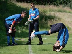 Hoffenheims Keeper-Trio beim Training