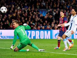 100 Mal gesehen, immer noch schön: Lionel Messi bringt Barca mit einem gefühlvollen Lupfer in Führung