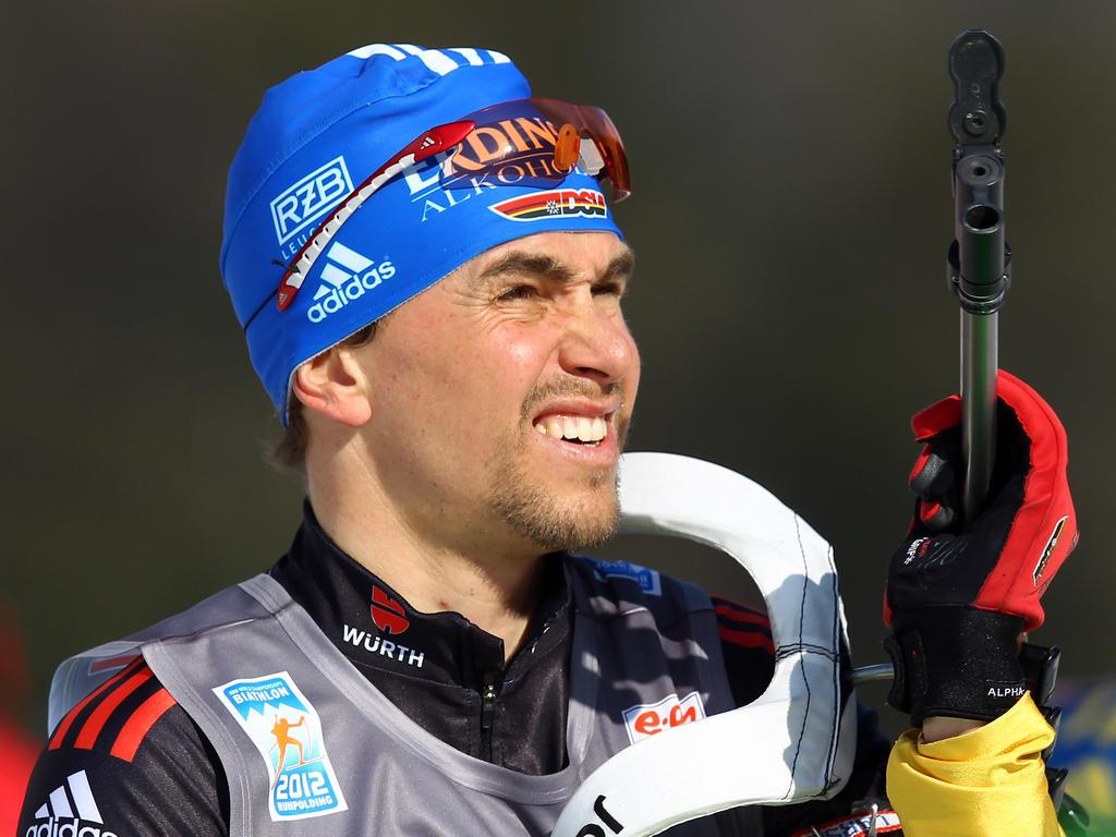 Gewann bei der Winterspielen 2006 in Turin dreimal Gold:Biathlet Michael Greis