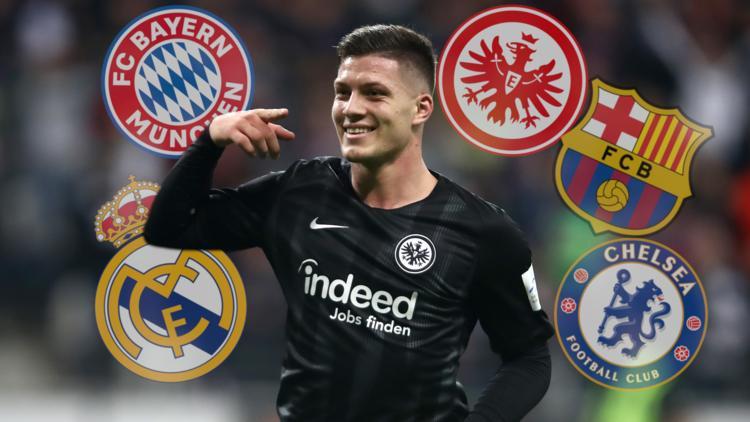 Luka Jovic von Eintracht Frankfurt hat große Begehrlichkeiten geweckt