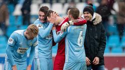 Der Chemnitzer FC freut sich über den Aufstieg in die 3. Liga
