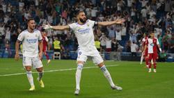 Karim Benzema gelangen gleich drei Tore