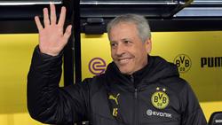 Lucien Favre war nach dem klaren Sieg des BVB glücklich